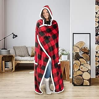 Safdie & Co. Hooded Blanket Throw Wearable Cuddle 52