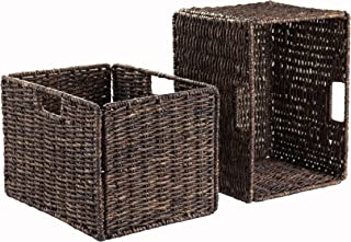 Winsome Granville Storage/Organization, 2 Tall Baskets, Chocolate