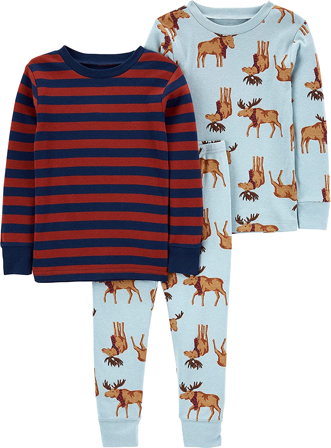 Simple Joys by Carter's Baby, Toddler, and Little Boys' 3-Piece Snug-fit Cotton Pajama Set