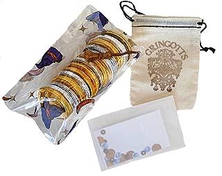 Harry Potter Belgian Milk Chocolate Coins, Gringott's Cloth Sack & Gift Card Set