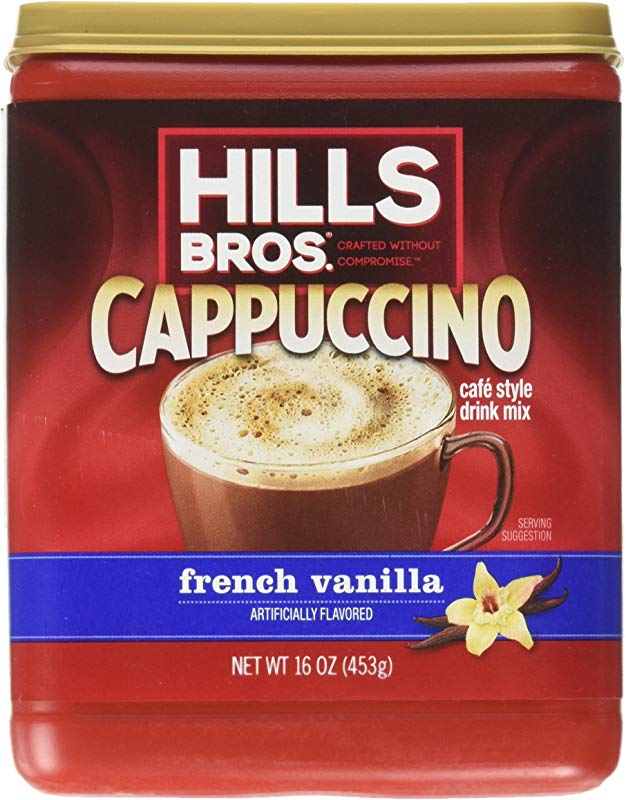 Hills Bros Cappuccino French Vanilla 16 Ounce Pack Of 6
