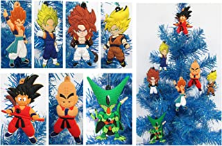 Dragon Ball Z Holiday Christmas Ornament Set - Unique Shatterproof Plastic Design by Holiday Ornaments