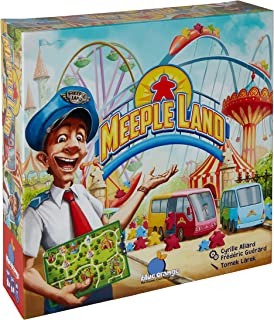 Meeple Land Board Game- Family or Adult Strategy Board Game for 2 to 4 Players. Recommended for Ages 10 & Up