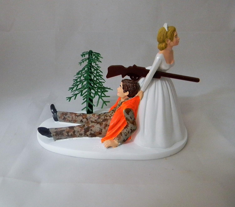 Wedding Reception Camo Orange 舗 Vest Hunting ショッピング Cake Hunter Topper
