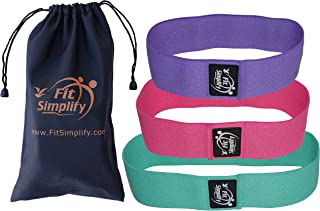 Fit Simplify Resistance Hip Bands - Highest Resistance Exercise Bands - Set of 3 Booty Bands - Bonus Instruction Guide, Carry Bag, Ebook and Online Workout Videos