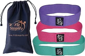 Fit Simplify Resistance Hip Bands - Highest Resistance Exercise Bands - Set of 3 Booty Bands - Bonus Instruction Guide, Carry Bag, Ebook and Online Workout Videos
