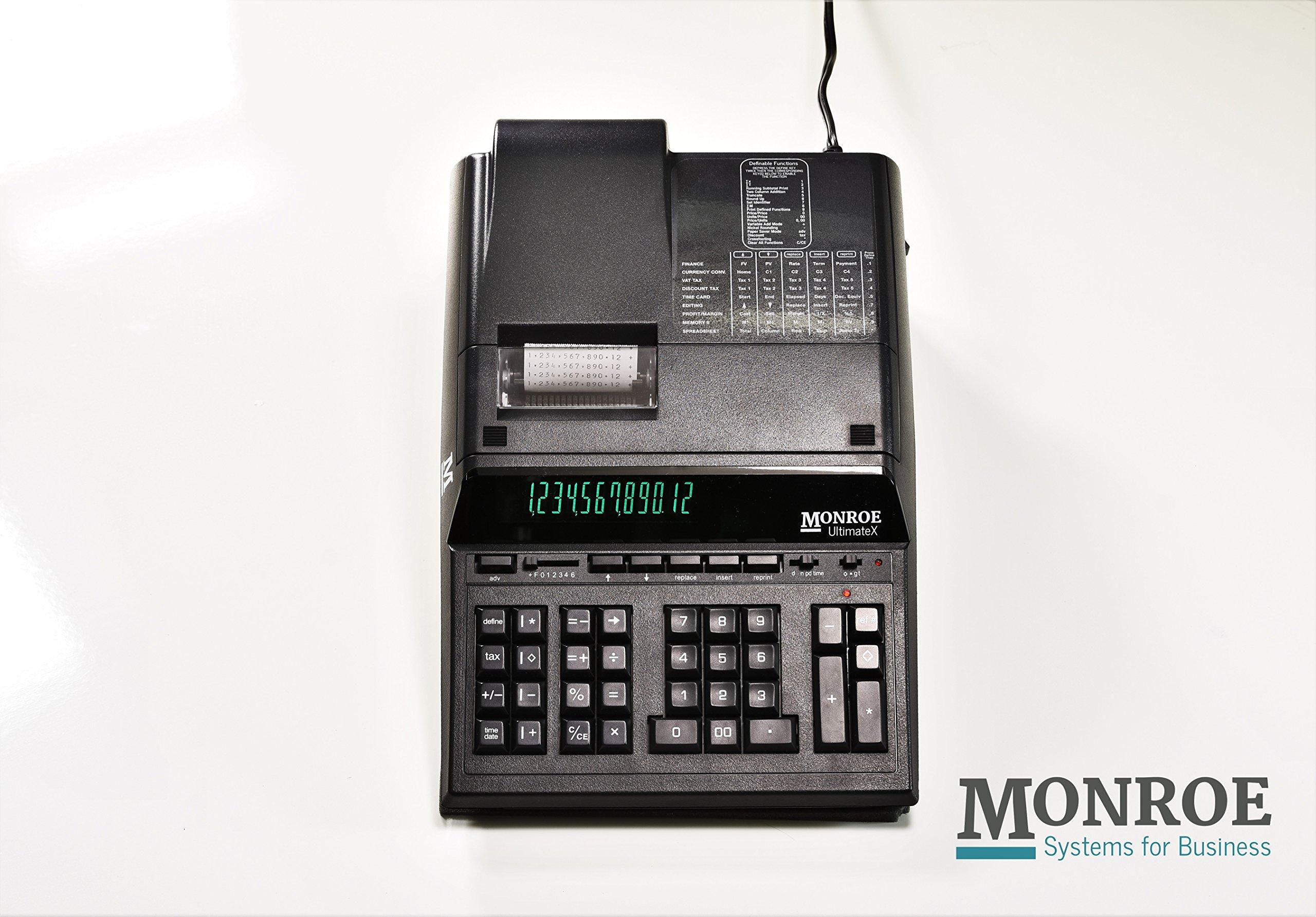 Monroe UltimateX 12 Digit Printing Calculator