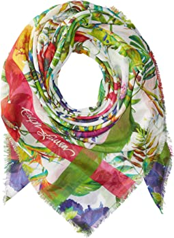 Botanical Square Scarf