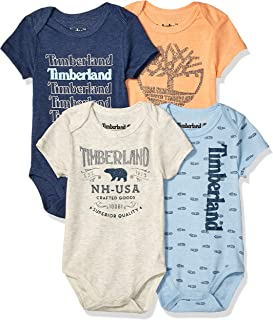 Baby Boys' 4 Pieces Pack Bodysuits