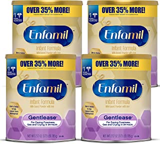 Enfamil Gentlease Baby Formula, Reduces Fussiness, Gas, Crying and Spit-up in 24 hours, DHA & Choline to support Brain dev...