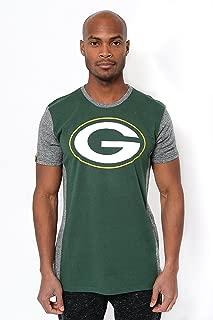 Ultra Game NFL Men's T-Shirt Raglan Block Short Sleeve Tee Shirt