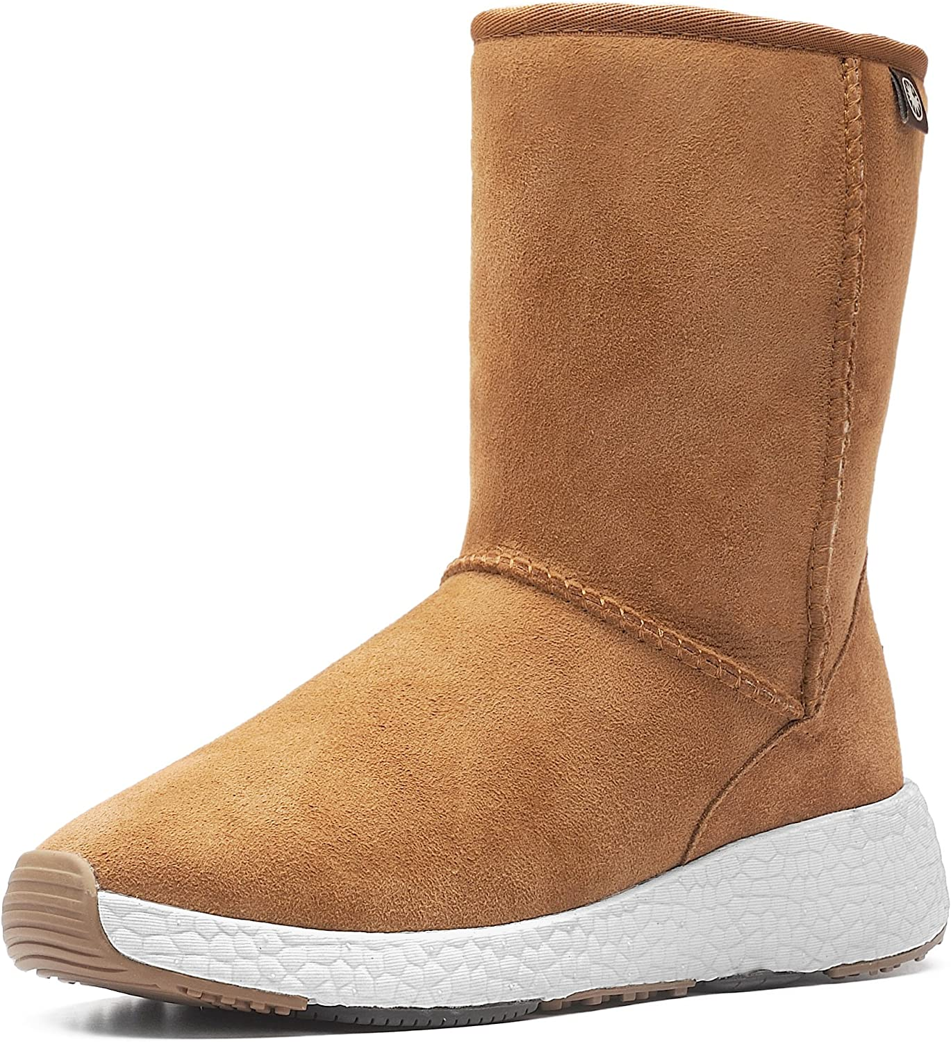 Aumu Womens Fashion Shearling Ankle Bootie Snow Boots Winter Boots
