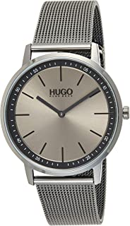 Hugo Boss Unisex-Adult Grey Dial Ionic Plated Grey Steel Watch - 1520012