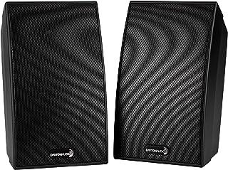 "Dayton Audio SAT-BK 3-3/4"" 2-Way Satellite Speaker Pair Black"