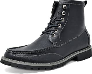 Men's Motorcycle Boots Leather Dress Oxford Boots