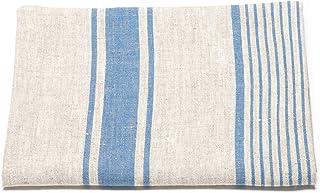 """LinenMe Linen Bath Towel Blue Natural Provence, 39"""" x 57"""""""