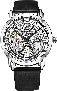 Stuhrling Original Watches for Women Automatic Watch - Skeleton Watch Self Winding Womens Dress Watch Leather Watch Strap ...