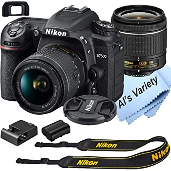 Nikon D7500 DSLR Camera Kit with 18-55mm VR Lens | Built-in Wi-Fi | 20.9 MP CMOS Sensor | EXPEED 5 Image Processor and Full HD 1080p Video Recording at 30 fps| SnapBridge Bluetooth Connectivity