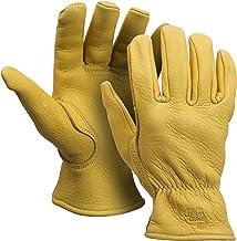 American Made Genuine Deerskin Buckskin Leather Work Gloves , 850, Size: Large