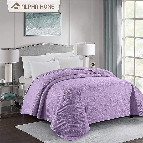 阿尔法家居床单被套床罩和床单大号紫色