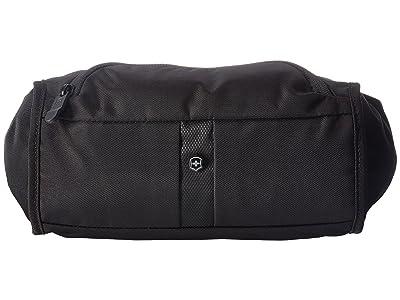 Victorinox Lumbar Pack Waist Tote with RFID Protection (Black/Black Logo) Bags