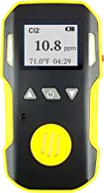 CHLORINE Gas Detector & Analyzer by FORENSICS & BOSEAN | Professional Precision Series | Water, Dust & Explosion Proof | USB Recharge | Sound, Light and Vibration Alarms | 0-20 ppm Cl2 Gas |
