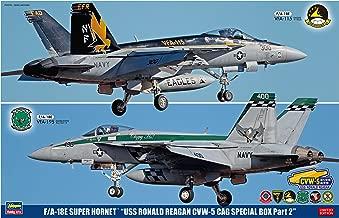 Hasegawa HAS52143 1:72 F-18E Super Hornet 'USS Ronald Reagan CVW-5 Cag Special Box Part2' (2 Kits) [Model Building KIT]
