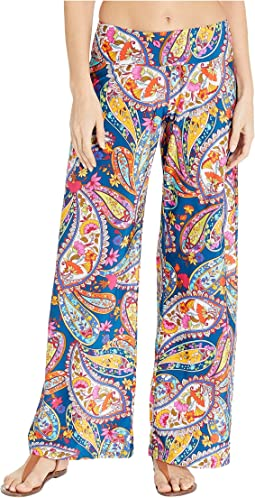 Moroccan Paisley Roll Top Pants Cover-Up