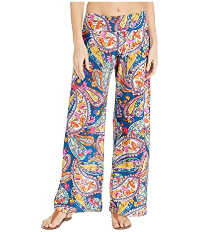 Trina Turk Moroccan Paisley Roll Top Pants Cover-Up (Dark Teal) Women