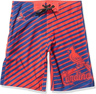FOCO MLB Mens Stripes Poly Board Shorts