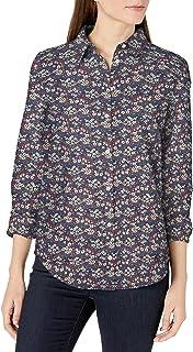 Amazon Essentials Women's Classic-Fit Long-Sleeve Linen Shirt