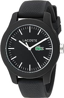 Lacoste reloj automático para Mujer - 12.12Resina de cuarzo y automático de silicona, color: negro (Modelo: 2000956)