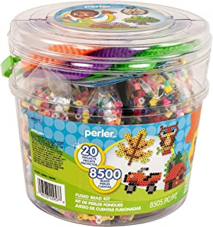 Perler Beads Crafts for Kids 'Outdoor Campsite' Fuse Bead Pattern Kit, 20 Projects, 8500pc