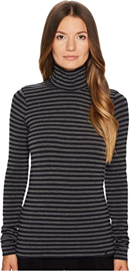Jil Sander Navy Wool Long Sleeve Turtleneck