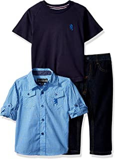 ENGLISH LAUNDRY 婴儿男童长袖衬衫, T 恤和裤子套装(更多款式)