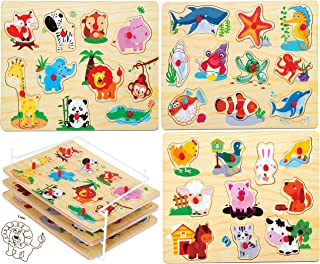 Best wood puzzles toddlers Reviews