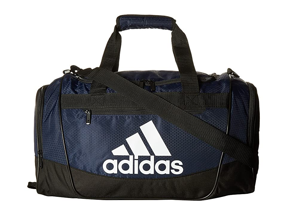 adidas Defender III Small Duffel (Collegiate Navy/Black/White) Duffel Bags, Blue