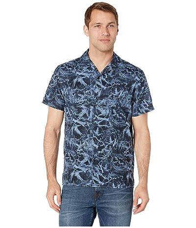 Prana Keilyr Camp Shirt (Steel Blue Foliage) Men