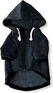 Ellie Dog Wear Zip Up Adventure Charcoal Grey Dog Hoodie with Hook & Loop Pockets and Adjustable Drawstring Hood - XXS to XXL Available - Comfortable & Versatile Premium Dog Hoodies