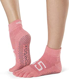 Grip Pilates Barre Socks-Non Slip Ankle Full Toe For Yoga & Ballet Calcetines, Mujer