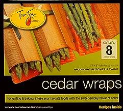 TrueFire Gourmet TFWraps8-8 8-Pack 7.25 by 8-Inch Cedar Wraps with twine