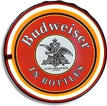 Officially Licensed Anheuser Busch Budweiser Beer In Bottles LED Neon Light Rope Sign, 12