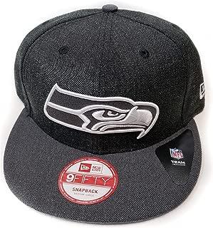 New Era Seattle Seahawks 9Fifty Black & White Logo Adjustable Snapback Hat NFL