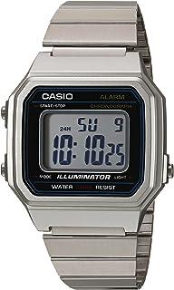 Casio Classic - Reloj casual de cuarzo de metal y acero inoxidable para hombre, color: plateado (modelo: B650WD-1ACF)