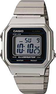 Casio Men's Classic Quartz Watch with Stainless-Steel Strap, Silver, 22.7 (Model: B650WD-1ACF