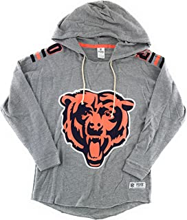 Victoria's Secret Pink Chicago Bears Pullover Hoodie Small Gray