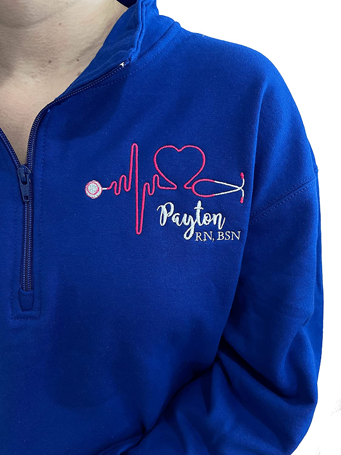 New Shipping Free Nurse Sweatshirt Colorado Springs Mall Personalized with Customizable Credentials Hear
