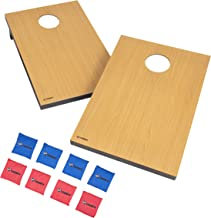 Triumph Tournament Bean Bag Toss Game with 2 Easy Transport Game Platforms with Scratch Resistant Surface, Convenient Carry Handle and 8 Toss Bags