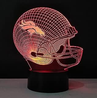 Football Helmet Light - Touch Control Football Helmet Light- Upgraded Color Changing Touch Light - Night Light for Boys Men Women - Perfect Gift for Football Sports Lovers (Denver Broncos)