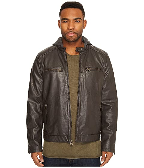 Quilted with Leather and Shoulders Hood Faux Levi's® Jersey Racer fRTISRq